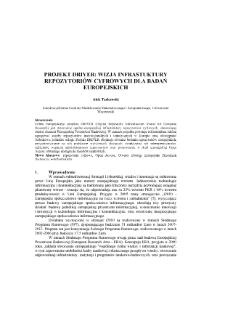 Projekt DRIVER - europejska infrastruktura dla repozytoriów cyfrowych
