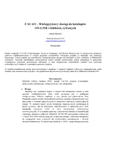 Polskie Biblioteki Cyfrowe 2008. Materiały z konferencji