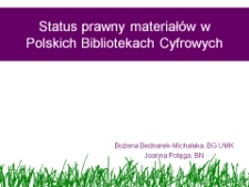 Status prawny materiałów w Polskich Bibliotekach Cyfrowych