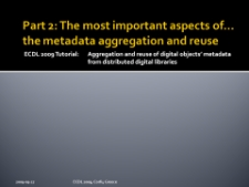 Part 2: The most important aspects of… the metadata aggregation and reuse
