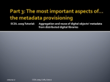 Part 3: The most important aspects of… the metadata provisioning