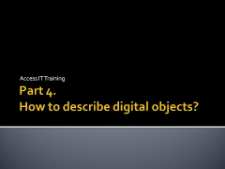 How to describe digital objects?