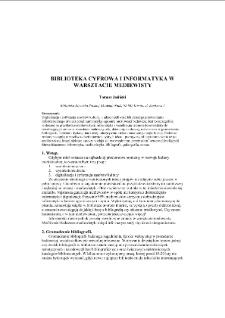Biblioteka cyfrowa i informatyka w warsztacie mediewisty