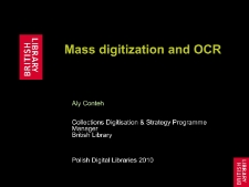 Mass Digitisation and OCR