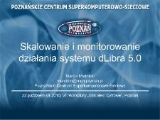 Skalowanie i monitorowanie działania systemu dLibra 5.0