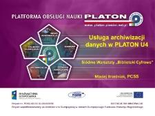 Usługa archiwizacji danych w PLATON U4