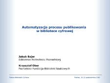 Automatyzacja procesu publikowania w bibliotece cyfrowej