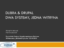 dLibra & Drupal, dwa systemy, jedna witryna