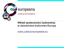 Wkład społeczności żydowskiej w dziedzictwo kulturowe Europy