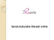 Proarte. Serwis kulturalno-literacki online