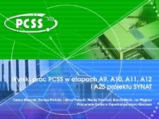 Wyniki prac PCSS w etapach A9, A10, A11, A12 i A25 projektu SYNAT