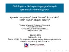 Ontologie w historyczno-geograficznych systemach informacyjnych