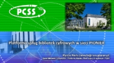 Platforma usług bibliotek cyfrowych w sieci PIONIER